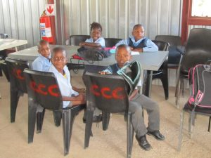 Homework at the Thabang Drop-In-Centre
